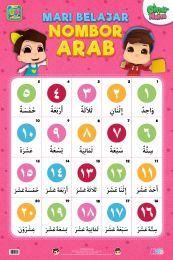 Poster Mari Belajar Nombor Arab Omar & Hana