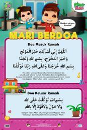 Poster Mari Berdoa: Doa Masuk Rumah & Keluar Rumah Omar & Hana