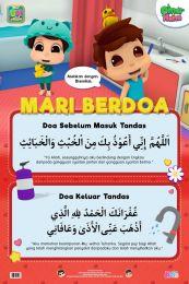Poster Mari Berdoa: Doa Masuk & Keluar Tandas Omar & Hana