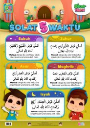 Poster Solat 5 Waktu Omar & Hana