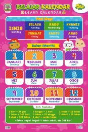 Poster Belajar Kalendar Didi & Friends