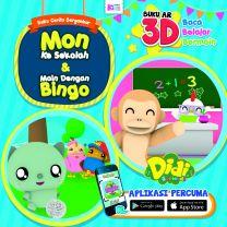 Buku Cerita Bergambar: Mon Ke Sekolah & Main Dengan Bingo
