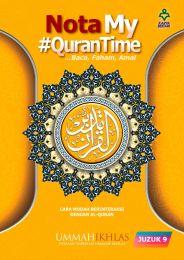 Nota My #QuranTime Juzuk 9