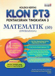 Koleksi Kertas KLON PT3 Matematik (Dwibahasa) 2020