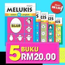 MELUKIS DALAM 6 LANGKAH: 5 BUKU RM20