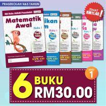 PRASEKOLAH 4&5 TAHUN BUKU 1 6 BUKU RM30