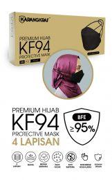 Karangkraf KF94 Face Mask 4ply (Black) (HeadLoop) - 10pcs