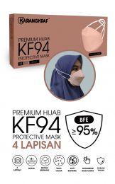 Karangkraf KF94 Face Mask 4ply (Peach) (HeadLoop) - 10pcs