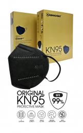 Karangkraf KN95 Medical Protective Face Mask (Black) - 10pcs