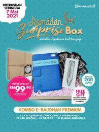 Kombo E : Raudhah Premium - Ramadan Surprise Box + FREE GIFT (BEG IQRA)