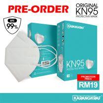 Karangkraf KN95 Face Mask 5ply (White) - 10pcs [PRE-ORDER]